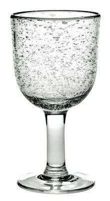 Tavola - Bicchieri  - Bicchiere da vino Pure - / Fatto a mano di Serax - Trasparente - Verre bullé