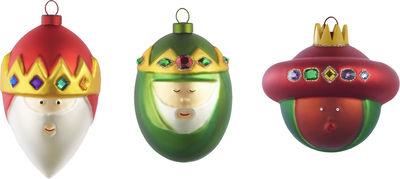 Boule de Noël / Set de 3 : les Rois mages - A di Alessi multicolore en verre