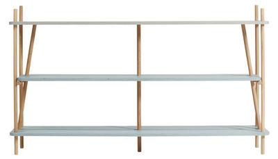 Möbel - Regale und Bücherregale - Simone Bücherregal / L 152 cm x H 92 cm - Hartô - Pastellblau - Eiche, eichenfurnierte Holzfaserplatte