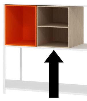Mobilier - Etagères & bibliothèques - Caisson Minima / Ouvert avec étagère - L 30 cm - MDF Italia - Bois naturel - Bois