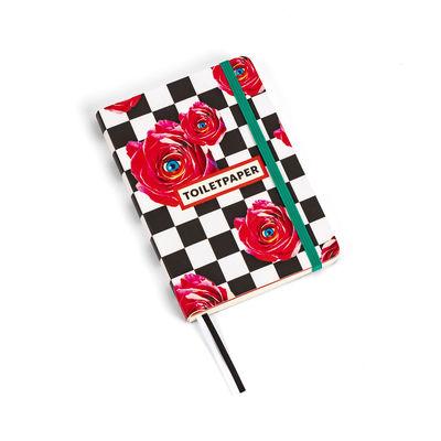 Accessoires - Bloc-notes, cahiers et stylos - Carnet Toiletpaper / Roses - Small 15 x 10,5 cm - Seletti - Roses - Papier ivoire, Polyuréthane