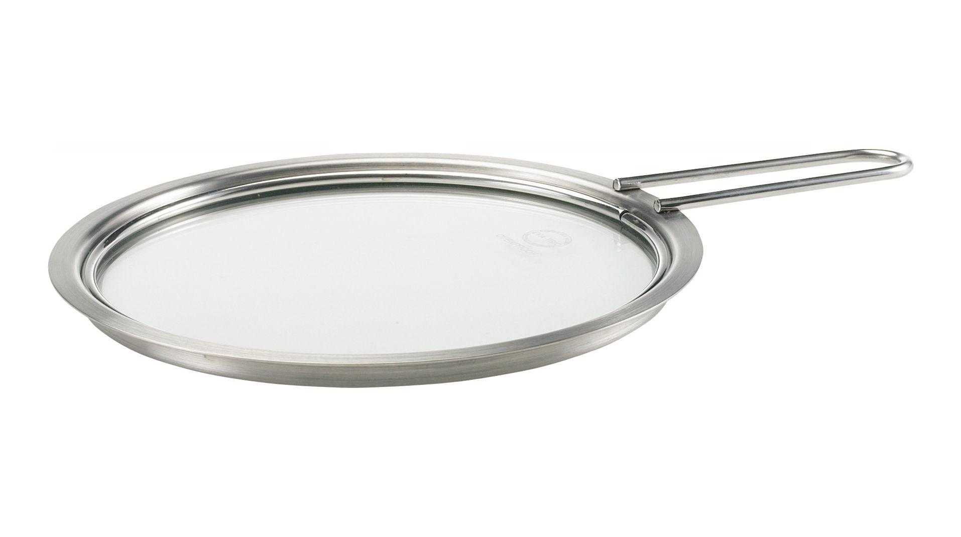 Cucina - Pentole, Padelle e Casseruole - Coperchio - Ø 16 cm - Con manico di Eva Trio - Cromato - Acciaio inossidabile