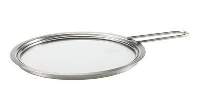 Küche - Pfannen, Koch- und Schmortöpfe - Deckel Ø 16 cm - mit langem Griff - Eva Trio - Verchromt - rostfreier Stahl