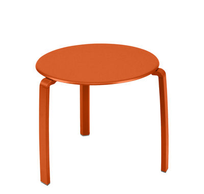 Furniture - Coffee Tables - Alizé End table by Fermob - Carrot - Aluminium