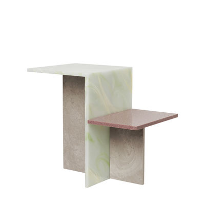Furniture - Coffee Tables - Distinct End table - / Acrylic stone by Ferm Living - Multicoloured - Acrylic stone