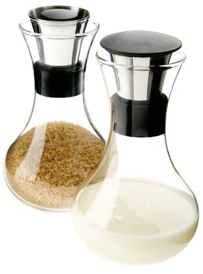 Küche - Zuckerdosen und Milchkännchen - Milch- und Zucker-Set - Eva Solo - Stahl und grün - Glas, rostfreier Stahl, Silikon