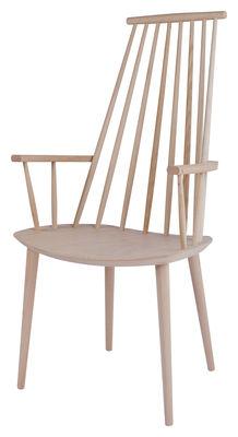 Mobilier - Chaises, fauteuils de salle à manger - Fauteuil J110 / Bois - Hay - Bois clair - Hêtre massif