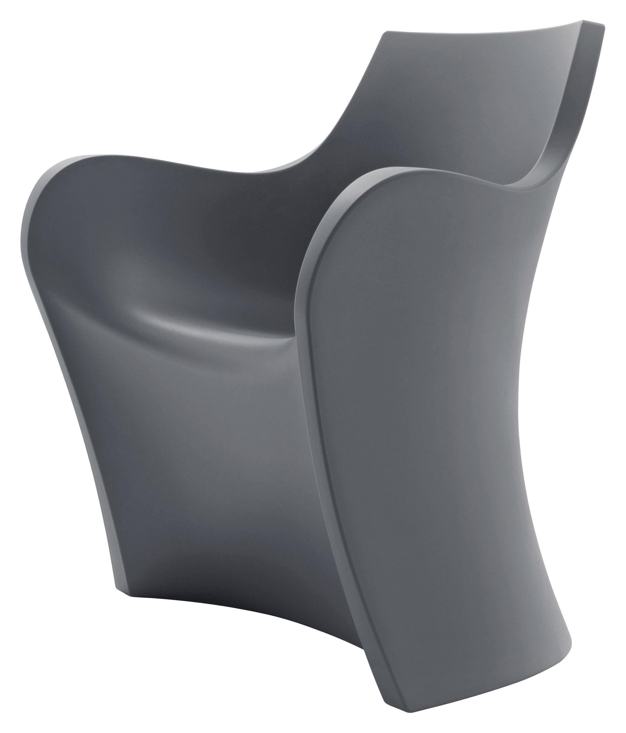 Outdoor - Chaises et fauteuils hauts - Fauteuil Woopy / Plastique - B-LINE - Gris - Polyéthylène rotomoulé