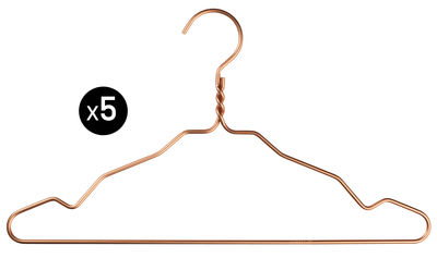 Decoration - Coat Stands & Hooks - W. Notch Hanger - / Set of 5 pieces by Nomess - Copper - Aluminium