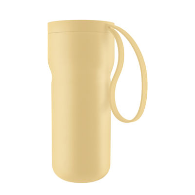 Tableware - Coffee Mugs & Tea Cups - Nordic kitchen Insulated mug - / 0.35L by Eva Solo - Frosted lemon - Plastic, Silicone, Stainless steel