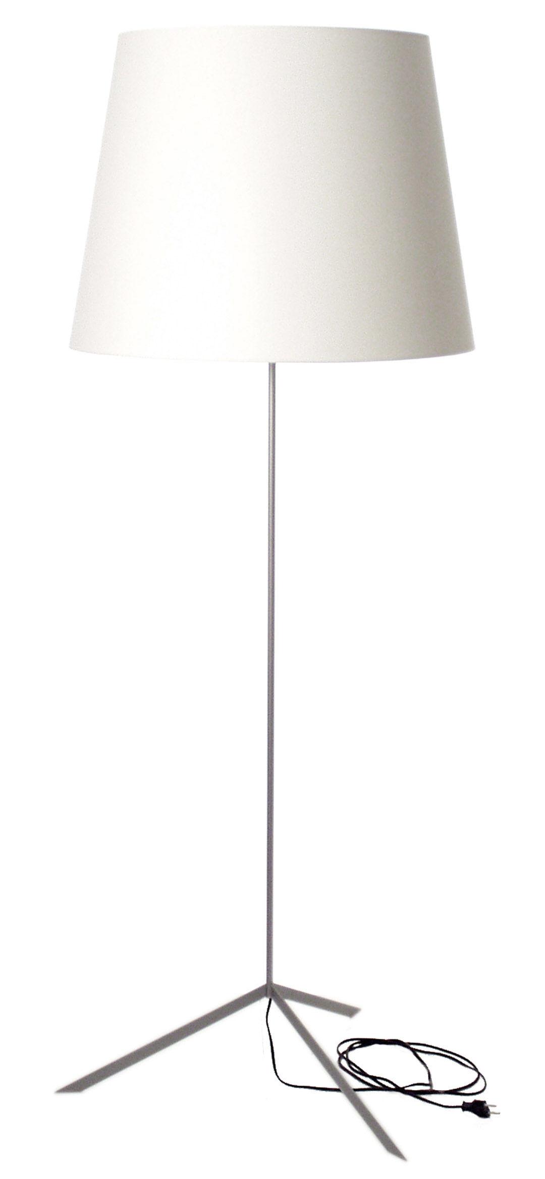 Illuminazione - Lampade da terra - Lampada a stelo Doubleshade di Moooi - Blanc - Acciaio cromato, Cotone
