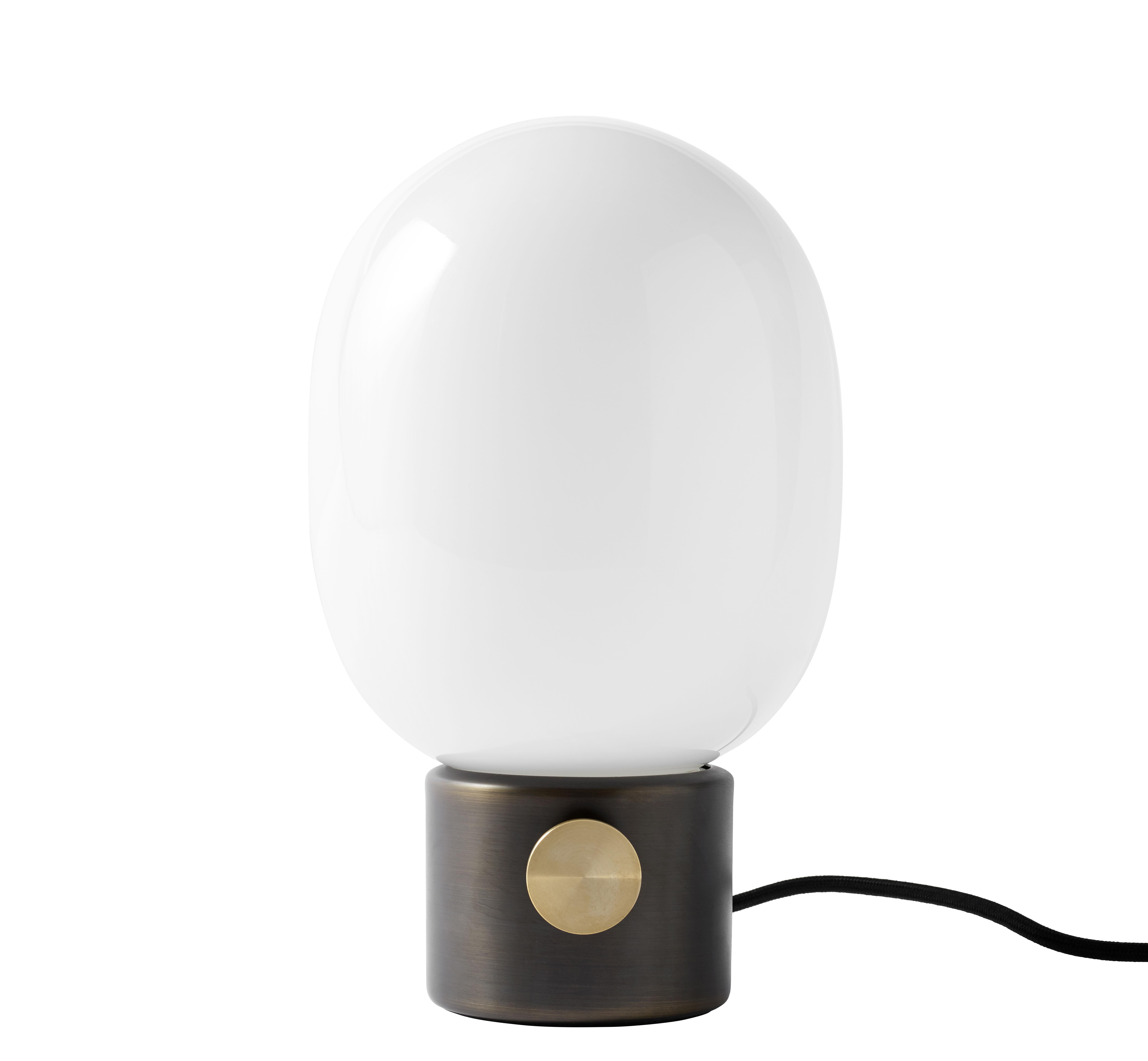 Luminaire - Lampes de table - Lampe de table JWDA / Métal - Menu - Laiton bruni - Laiton bruni, Verre