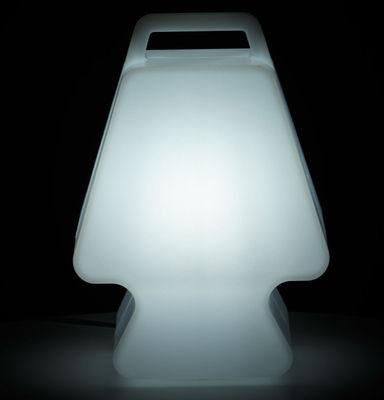 pr t porter lampe ohne kabel led wei by slide made in design. Black Bedroom Furniture Sets. Home Design Ideas