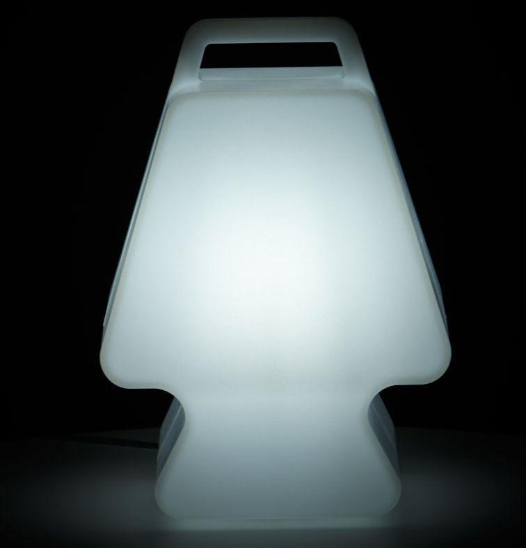 Dekoration - Für Kinder - Prêt à Porter Lampe ohne Kabel LED - Slide - Weiß - recycelbares Polyethen