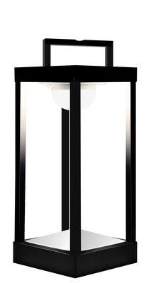 Luminaire - Lampes de table - Lampe solaire La Lampe Parc M LED / Sans fil - Dock USB - H 40 cm - Maiori - Noir - Aluminium, Verre