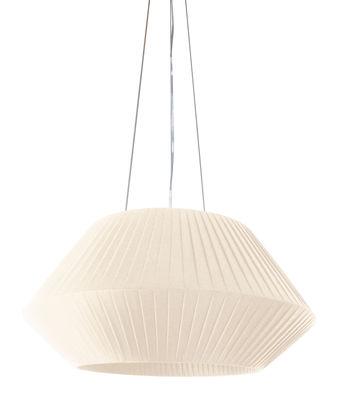 Lighting - Pendant Lighting - Ruban Pendant - Ø 70 cm by Dix Heures Dix - Ivory - Polyester fabric