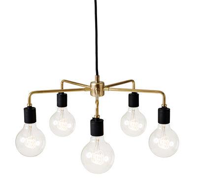 Leuchten - Pendelleuchten - Leonard Chandelier Pendelleuchte / Ø 46 cm - Menu - Messing - Messing, Porzellan