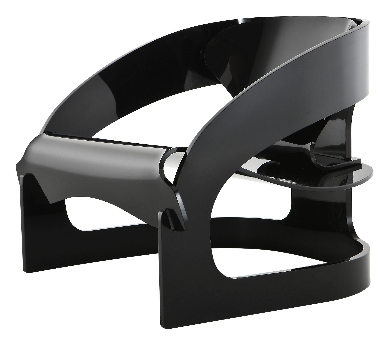 Arredamento - Poltrone design  - Poltrona 4801 - by Joe Colombo - Edizione limitata e numerata di Kartell - Nero - PMMA