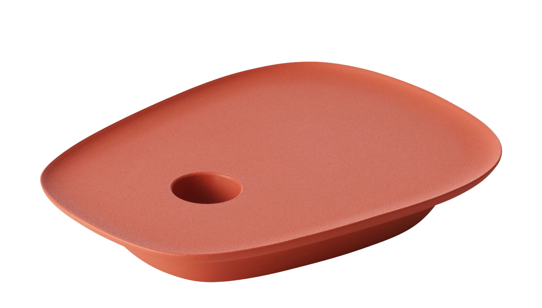 Interni - Candele, Portacandele, Lampade - Portacandela Float / Lamiera d'alluminio - Muuto - Rosso - Ghisa di alluminio