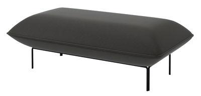 Pouf Cloud Large / 122 x 65 cm - Velours - Bolia noir,gris foncé en tissu
