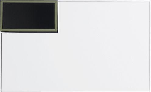 Mobilier - Mobilier Ados - Rangement mural Inmotion L 53  x H 32 cm - MDF Italia - Larg 53 cm / Blanc mat - Casier ouvert vert kaki - MDF