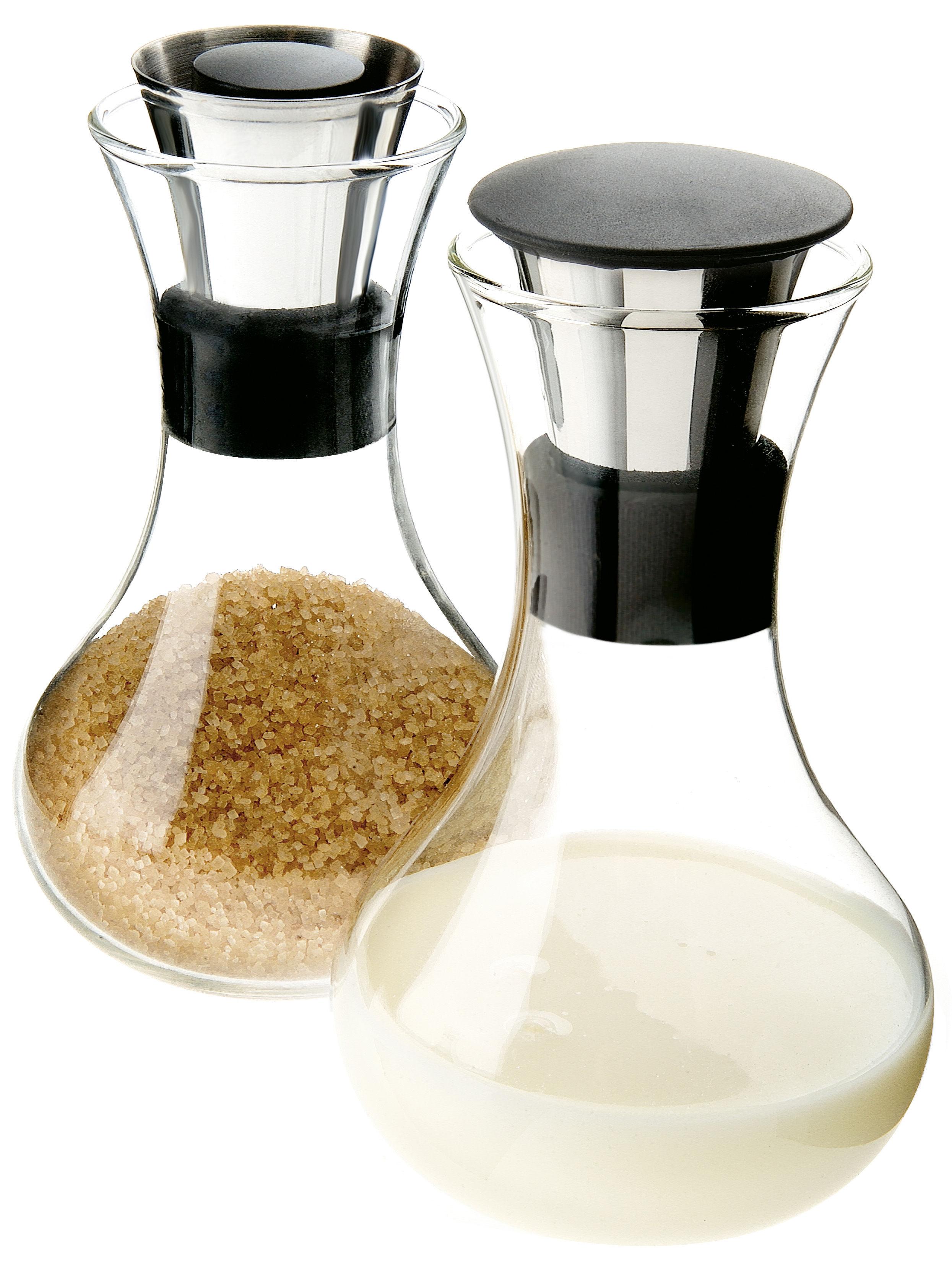 Cucina - Zuccheriere - Set zuccheriera e lattiera di Eva Solo - Vetro e acciaio - Acciaio inossidabile, Silicone, Vetro