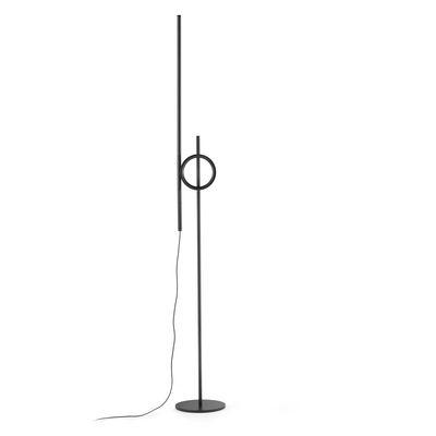 Lighting - Floor lamps - Tangent Medium LED Small reading lamp - / Adjustable - H 141 cm by Pallucco - Black - Aluminium