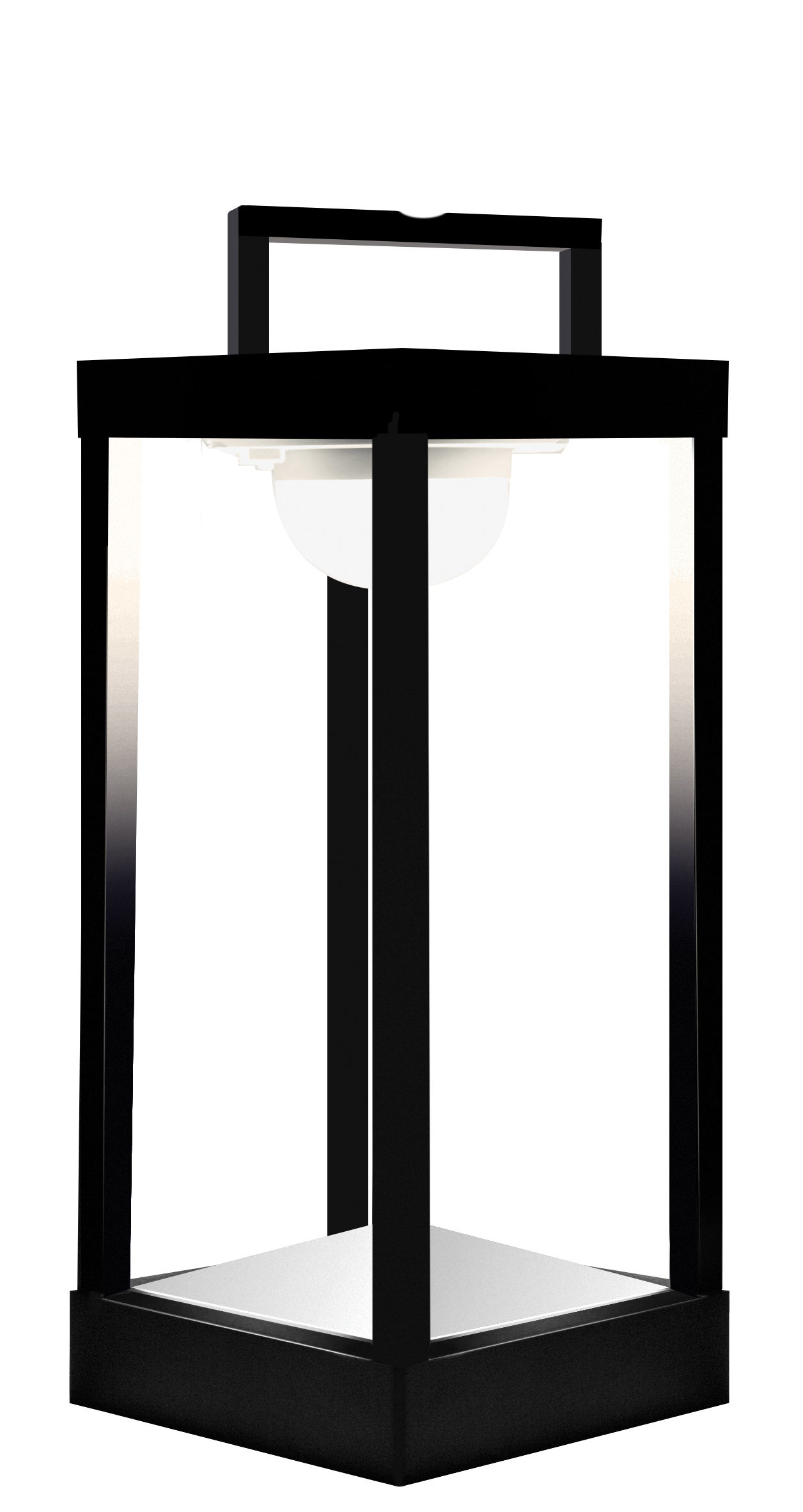 Lighting - Table Lamps - La Lampe Parc M Solar lamp - LED - Wireless - H 40 cm by Maiori - Black - Aluminium, Glass