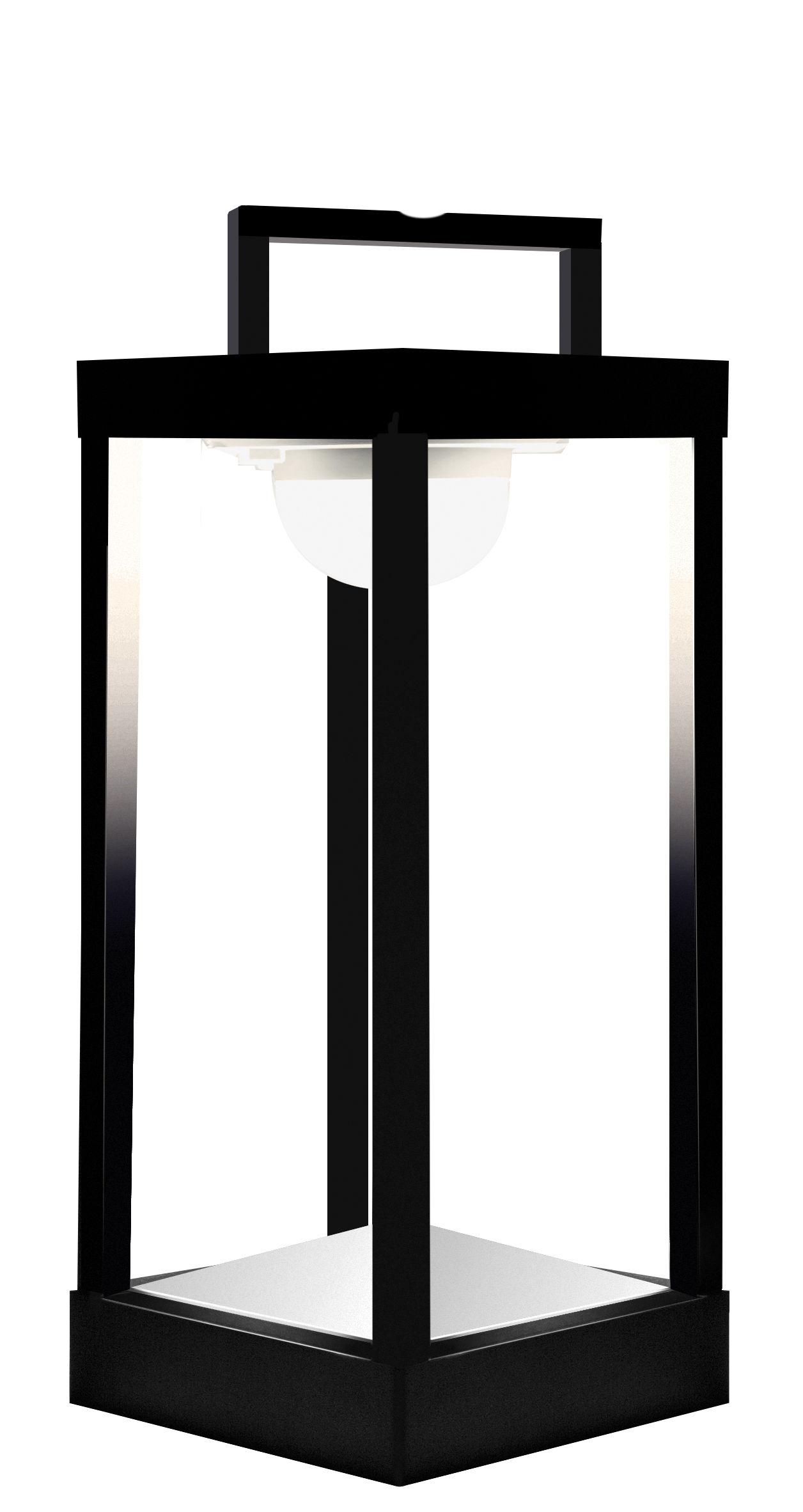 Leuchten - Tischleuchten - La Lampe Parc M Solarlampe LED / kabellos - H 40 cm - Maiori - Schwarz - Aluminium, Glas