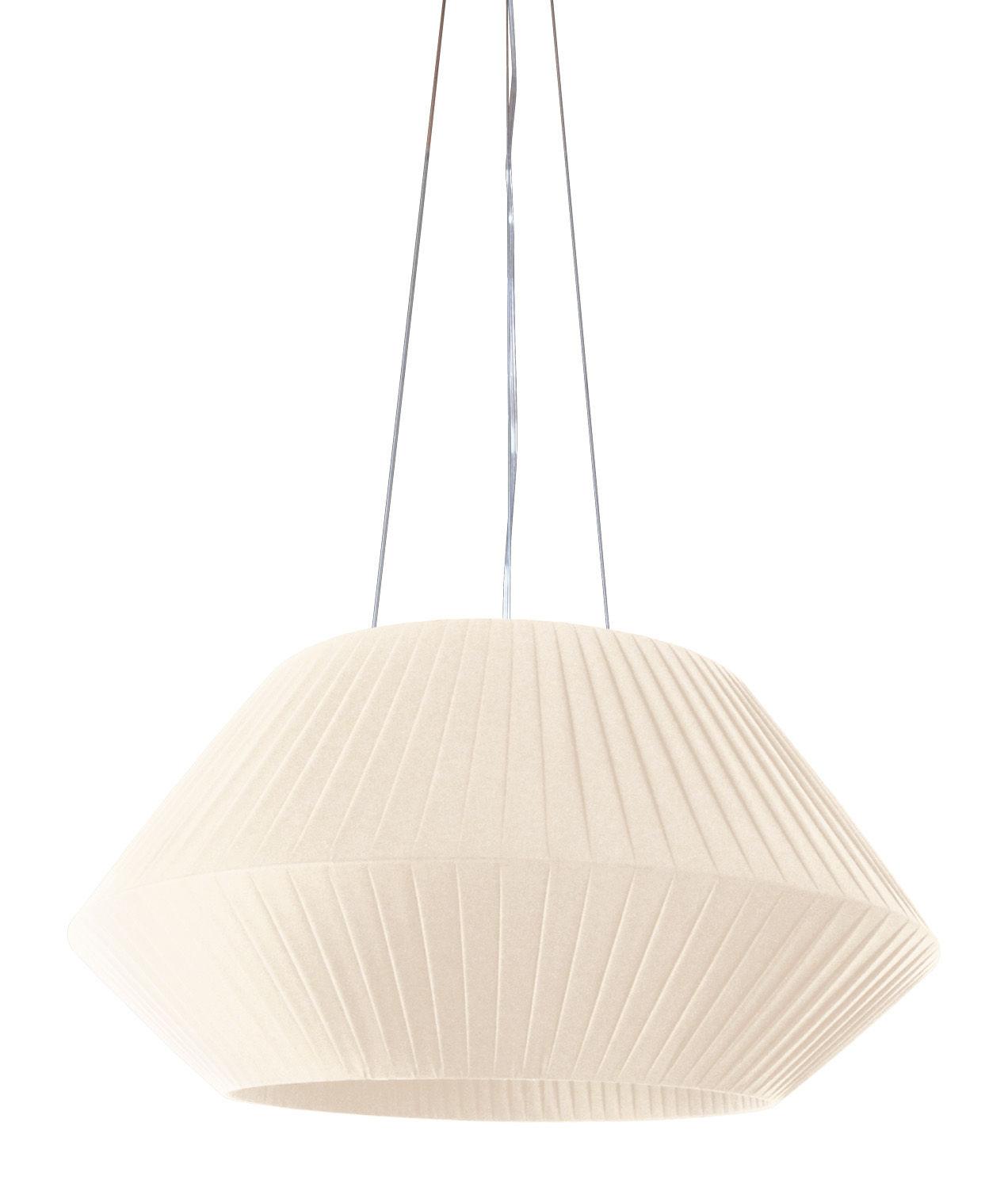 Illuminazione - Lampadari - Sospensione Ruban - Ø 70 cm di Dix Heures Dix - Avorio - Tessuto poliestere