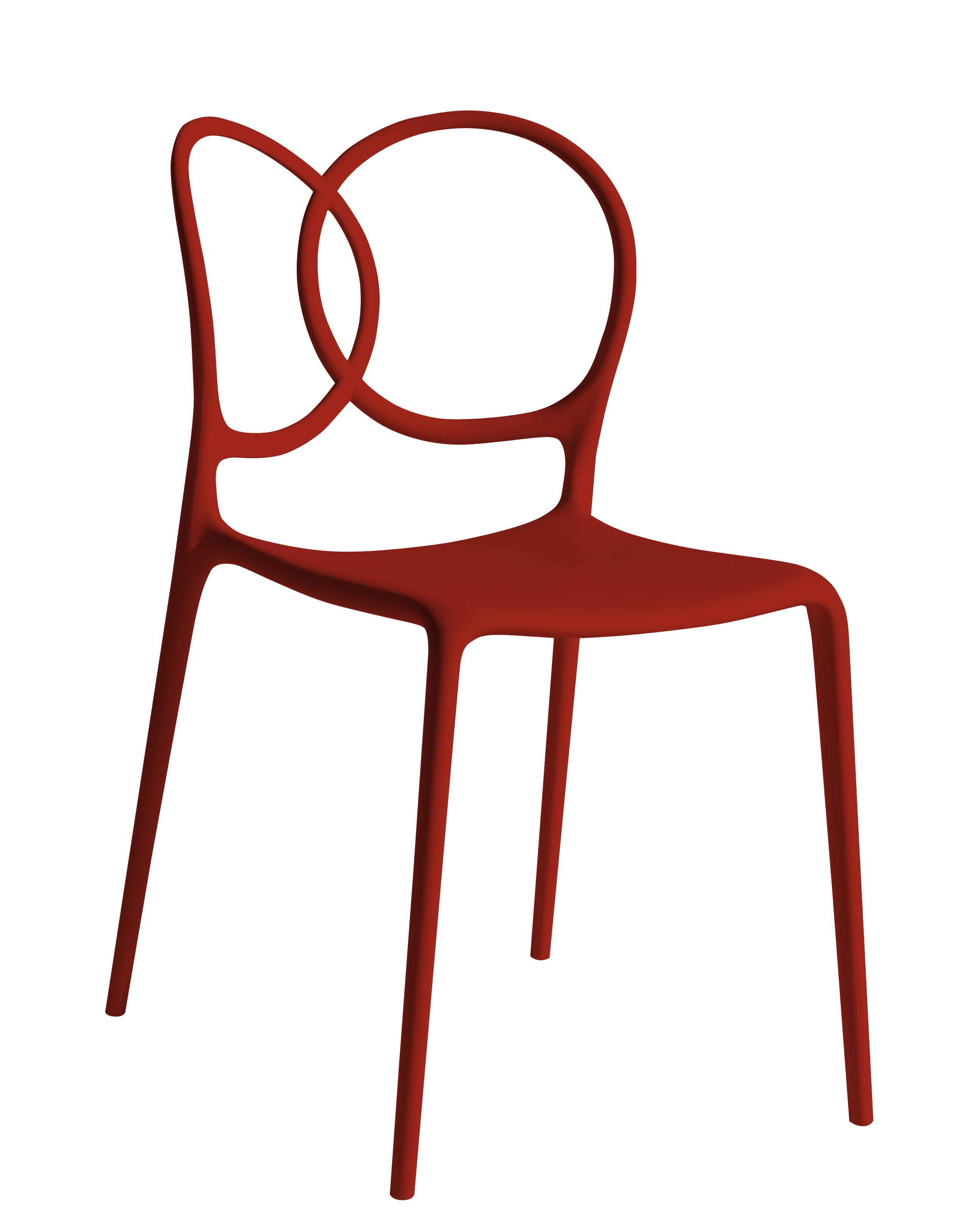 Furniture - Chairs - Sissi Stacking chair - Outdoor by Driade - Red - Fibreglass, Polypropylene, Polythene