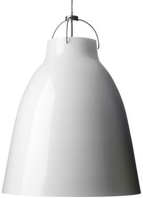 Suspension Caravaggio XL / Ø 55 cm - Lightyears blanc brillant en métal