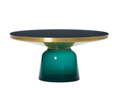 Table basse Bell Coffee / Ø 75 x H 36 cm - Plateau verre - ClassiCon vert émeraude en verre