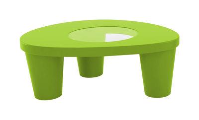 Table basse Low Lita - Slide vert en verre
