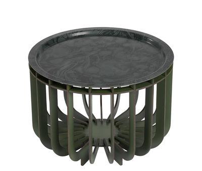 Table basse Medusa / Plateau amovible - Ø 46 cm - Ibride kaki en bois