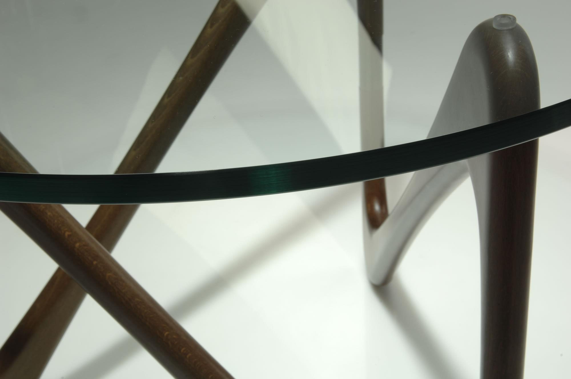 Table Basse Moebius Objekto Structure Hêtre Teinté Noyer H 51 X