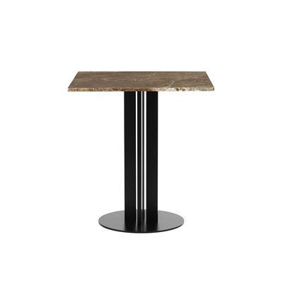 Mobilier - Tables - Table carrée Scala / 70 x 70 cm - Marbre sable - Normann Copenhagen - Marbre sable - Acier verni, Marbre