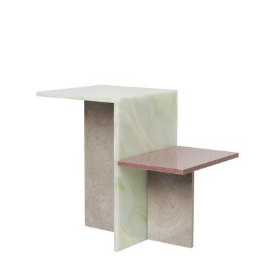 Table d'appoint Distinct / Pierre acrylique - Ferm Living multicolore en pierre