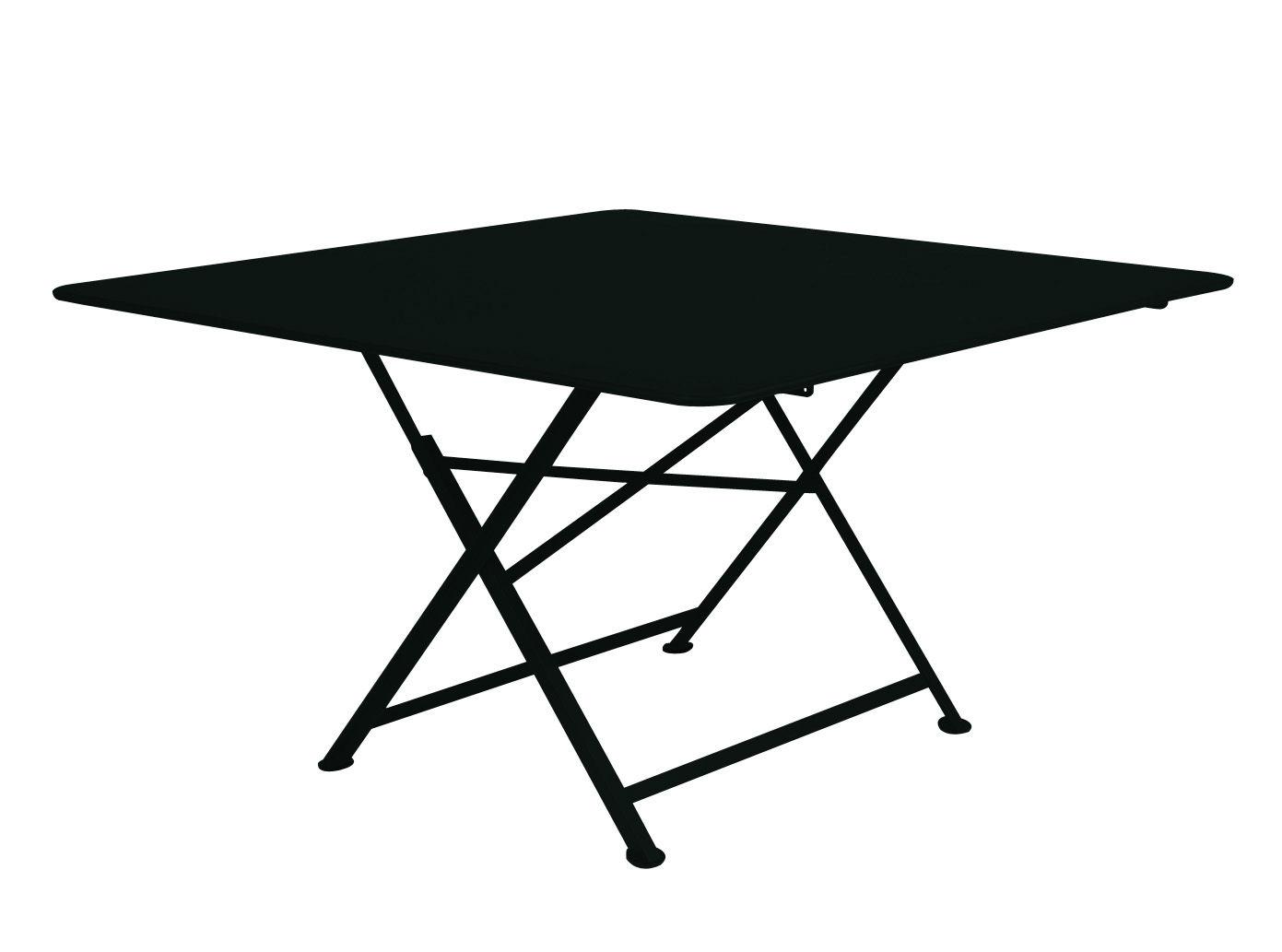 Outdoor - Tables de jardin - Table pliante Cargo / 128 x 128 cm - Fermob - Réglisse - Acier laqué