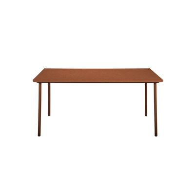 Jardin - Tables de jardin - Table rectangulaire Patio / Inox - 140 x 80 cm - Tolix - Rouille Fauve - Acier inoxydable