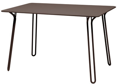 Table rectangulaire Surprising / 120 x 78 cm - Fermob rouille en métal