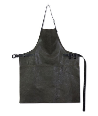 Tablier Barbecue / Cuir - Dutchdeluxes gris vintage en cuir
