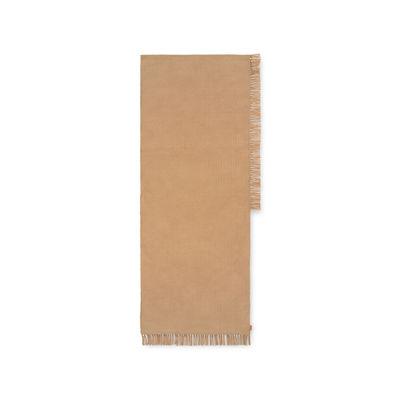 Tapis d'extérieur Hem Runner / 70 x 180 cm - Bouteilles plastique recyclées - Ferm Living beige en tissu