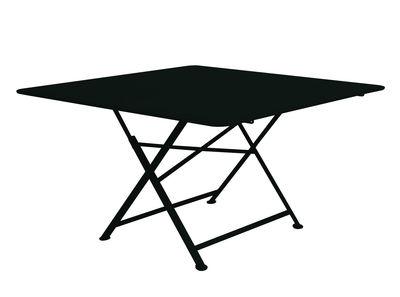 Outdoor - Tavoli  - Tavolo pieghevole Cargo di Fermob / 128 x 128 cm - Fermob - Liquerizia - Acciaio laccato