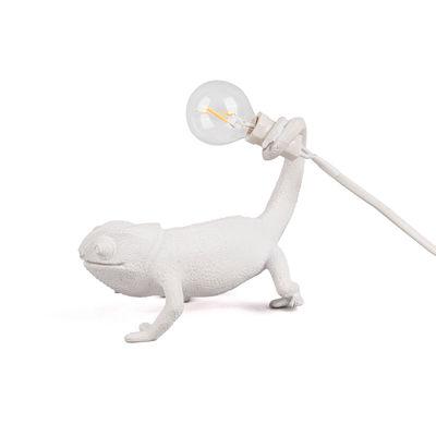 Leuchten - Tischleuchten - Chameleon Still Tischleuchte / Kunstharz - Seletti - Stil / Weiß - Harz