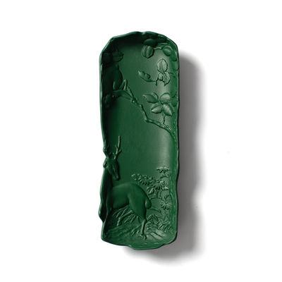 Accessories - Desk & Office Accessories - Replica 1 Trinket bowl - / Pencil box - Ceramic by Moustache - Khaki green - Glazed ceramic