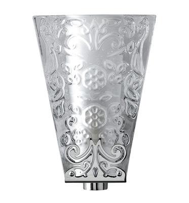 Leuchten - Wandleuchten - Vicky Wandleuchte - Fabbian - Glas, transparent / Reliefmuster - Glas, verchromtes Metall