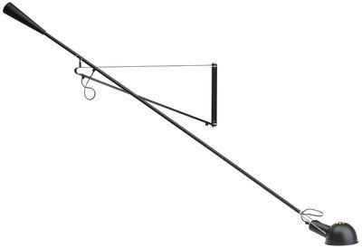 Applique avec prise 265 / L 205 cm - Modèle de 1973 - Flos noir en métal