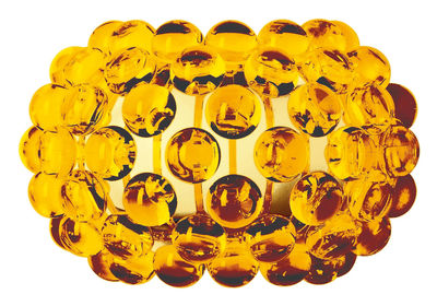Luminaire - Appliques - Applique Caboche Piccola / L 31 cm - Foscarini - Ambre - PMMA
