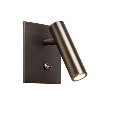 Applique Enna Square LED / Liseuse orientable - Interrupteur - Astro Lighting bronze en métal